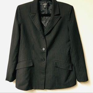 Kasper Classics Black Blazer with Pinstripes